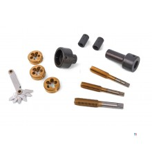 HBM 12-piece wheel bolt, wheel nut and wheel flange screw thread repair set