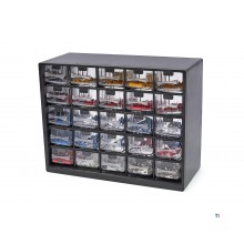HBM 1012 piece cable shoe assortment in 25 drawers chest of drawers