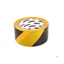 Silverline 50 mm x 33 meters Black Yellow Safety tape