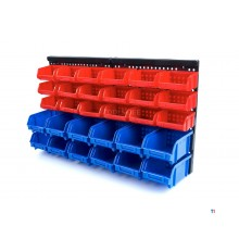 HBM Wall Storage Rack With 30 Bins