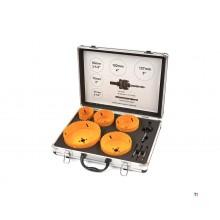 HBM 9 Piece Bi-Metal Hole Saw Set Large Sizes