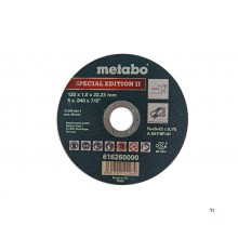 Metabo 125 x 1 mm. Doorslijpschijf voor RVS - Special Edition II