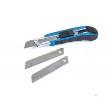 HBM professional 18 mm snap-off knife with 3 blades