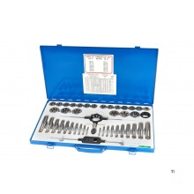 HBM 45 piece m6-24 tap and cutting set