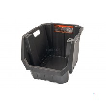 tactix professional storage box, stacking box 45.5 x 58 x 40 cm