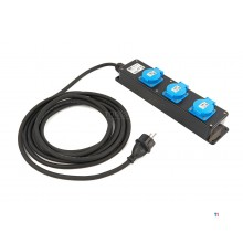 Hbm professionell ip44 kraftlist med 5 meter kabel 3 x 1,5 mm