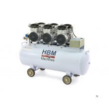 HBM 6 hp - 150 liter professional low noise compressor