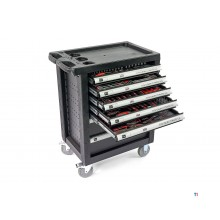 HBM 196-piece premium filled tool trolley - black
