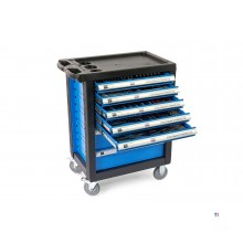 HBM 196-piece premium filled tool trolley - blue