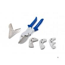 Hbm 6-delad PVC-skärsats med flera huvud och sockeltång