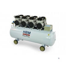 HBM 8 hp - 200 liter professional low noise compressor
