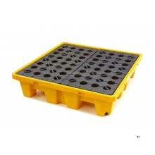 HBM 230 liter oil barrels collection tray, drip tray for 4 barrels