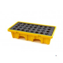 HBM 120 liter oil barrels collection tray, drip tray for 2 barrels