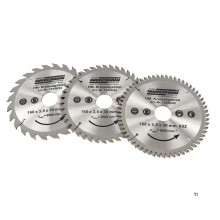 Mannesmann 160 mm 3-piece Profi Circular saw blade set for plunge saw
