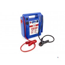 HBM car start booster, jump starter battery booster, 230 v, 12 v, 18 ah