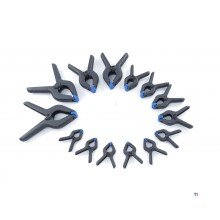 HBM 14-piece market clamp set from 75 to 225 mm.