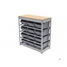 HBM baking cupboard, storage system, rack with 12 storage bins