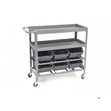 HBM Universal Tool Trolley With 6 Storage Bins