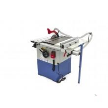 Mesa de sierra circular profesional HBM de 2200 vatios con mesa de rodillos