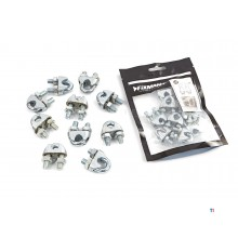 Silverline wire rope clips per 10 pieces