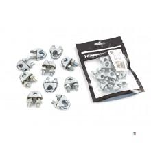 clips de câble métallique silverline par 10 pièces