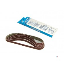 HBM sanding belts 13 x 457 mm. packed per 5 pieces