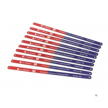 HBM 10-piece bi-metal saw blade set for hacksaw