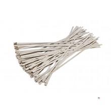 Assortiment d'attaches de câble / serre-câbles hbm 50 pièces en acier inoxydable
