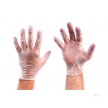 HBM 50 pair of transparent vinyl gloves