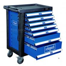 Carro de herramientas lleno de 263 piezas Scheppach TW1000
