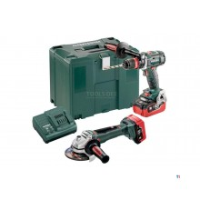 Metabo Combo Set 18V BSLTXQI Cordless Drill / Driver + WBLTX125Quick Cordless Angle Grinder 685094000