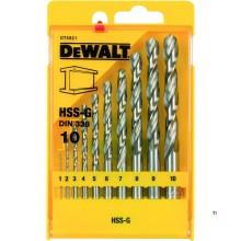 DeWalt DT5921 10-teilige HSS-G-Metallbohrer in Kassette - DT5921-QZ