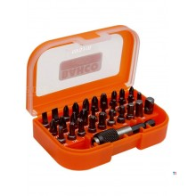 Bahco 31 Piece bit set for slot, Phillips, Pozidriv, TORX®, hexagon screws, bit holder and adapter