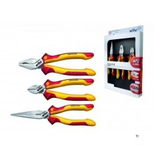WIHA 3 Piece Industrial VDE Pliers Set Model Z 99 0 09