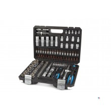HBM 108 Piece Professional Socket Set with Premium Ratchets