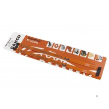 Bahco 3906-300-24-2P Sandflex Hoja de sierra manual bimetálica - 300 mm - 24TPI (2 piezas)