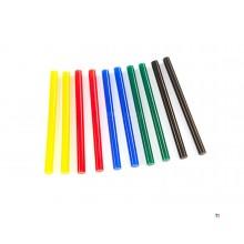 Silverline 7,2 x 100 mm Bâtons de colle colorés, 10 pièces