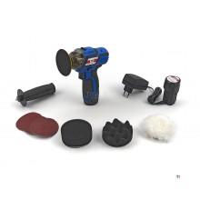HBM 10,8 Volt Poliergerät mit variablem Winkel an der Batterie