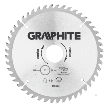 GRAPHITE saw blade 160x30x2,4x48t blade 160mm, axle hole 30mm, teeth 48, thickness 2.4mm, cutting thickness 2.8mm, geometry atb,