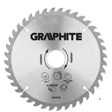 GRAPHITE saw blade 160x20x2,0x30t blade 160mm, axle hole 20mm, teeth 30, thickness 2.0mm, cutting thickness 2.8mm, geometry atb,