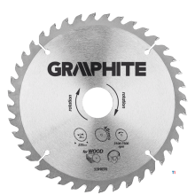 GRAPHITE saw blade 235x30x2.0x40t blade 235mm, axle hole 30mm, teeth 40, thickness 2.0mm, cutting thickness 2.8mm, geometry atb,