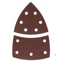 GRAPHITE sandpapper multi / delta k150 100x140mm, 5-pack, kardborreband