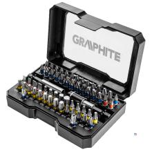 GRAPHITE bitset 60 pièces en acier s2 véritable, boîte à clic compacte et solide