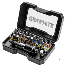 GRAPHITE bitset 32 ??pièces en acier s2 véritable, boîte à clic compacte et solide