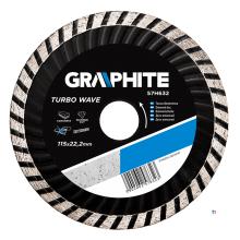 GRAPHITE diamantskive 115x22.2x6.0x2.4mm, turbo mpa en13236