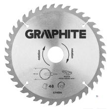 GRAPHITE circelzaagblad 190mm 40t blad 190mm, asgat 30mm, tanden 40, dikte 2,0mm, zaagdikte 2,8mm, geometry atb, materiaal c50 s