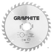 GRAPHITE circular saw blade 216mm 36t blade 216mm, arbor hole 30mm, teeth 36, thickness 2.0mm, cutting thickness 2.8mm, geometry