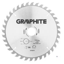 GRAPHITE circelzaagblad 216mm 36t blad 216mm, asgat 30mm, tanden 36, dikte 2,0mm, zaagdikte 2,8mm, geometry atb, materiaal c50 s