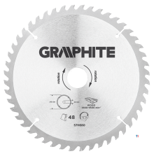 GRAPHITE circular saw blade 216mm 48t blade 216mm, arbor hole 30mm, teeth 48, thickness 2.0mm, cutting thickness 2.8mm, geometry