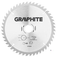 GRAPHITE kreissägeblatt 216 mm 48t blatt 216 mm, dornloch 30 mm, zähne 48, dicke 2,0 mm, schnittdicke 2,8 mm, geometrie atb, mat